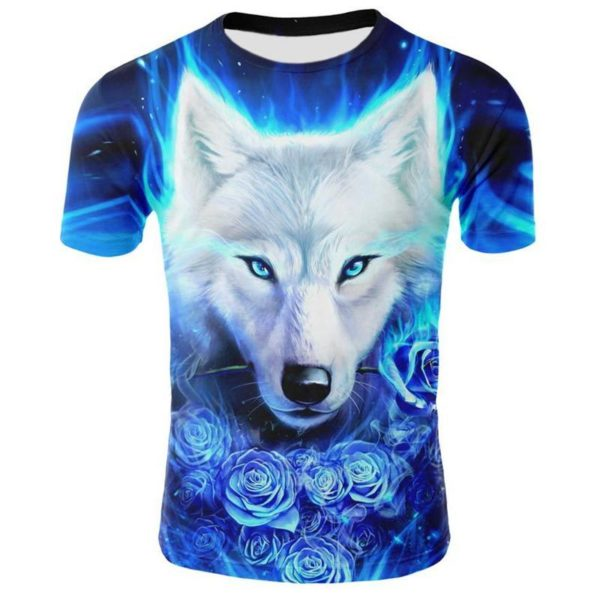 Cool Wolf T Shirt Front