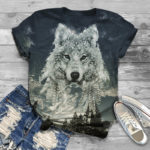 Girls Wolf T-Shirt with jeans