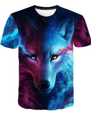 Galaxy Wolf T-Shirt picture