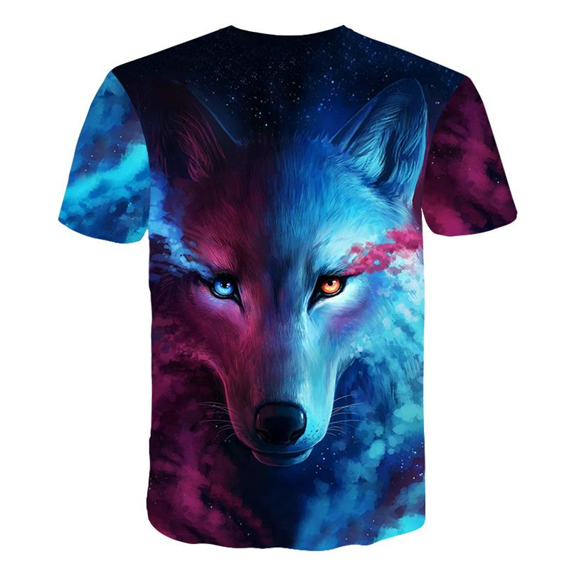 Galaxy Wolf T-Shirt back picture