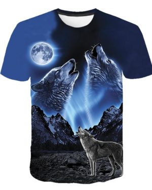 wolves howling at the moon shirt front