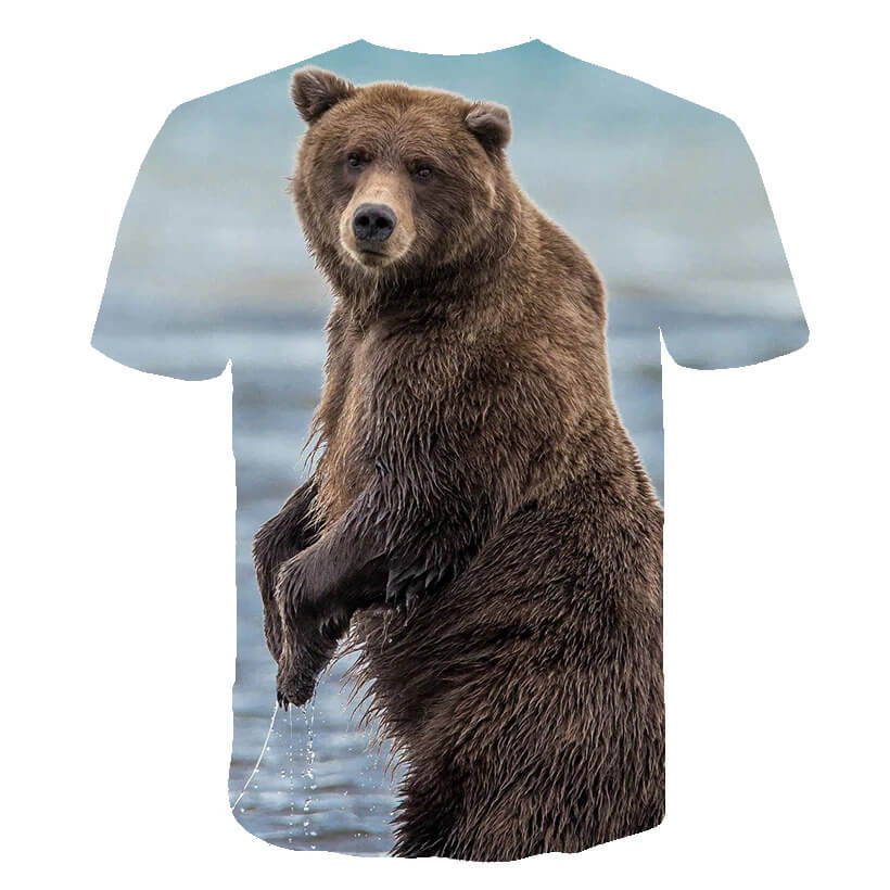Grizzly Bear Shirt Back