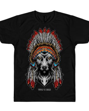 Indian American Wolf T-Shirt